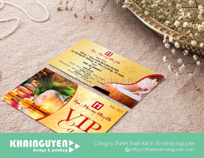 Thẻ vip - vip card đẹp cho spa
