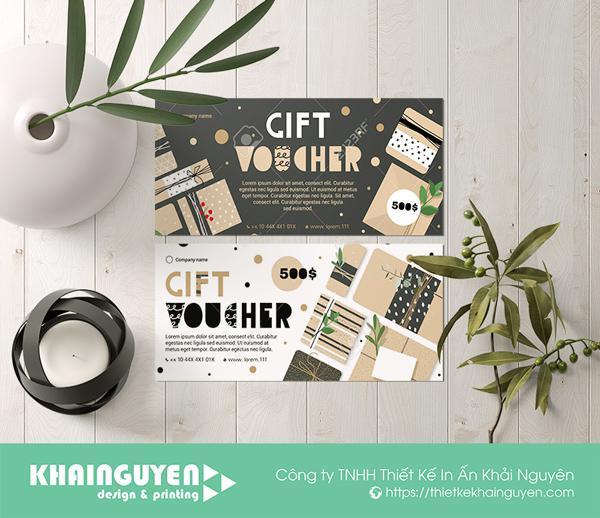 Mẫu thiết kế gift voucher cổ điển