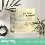 Gift voucher cổ điển cho nhà hàng