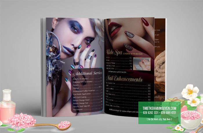 Thiết kế menu TT Nails & Spa tại Mỹ