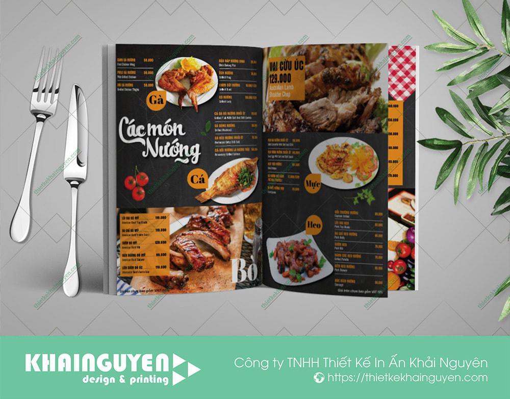 Nhà hàng Crab BBQ với phong cách thiết kế menu ấn tượng