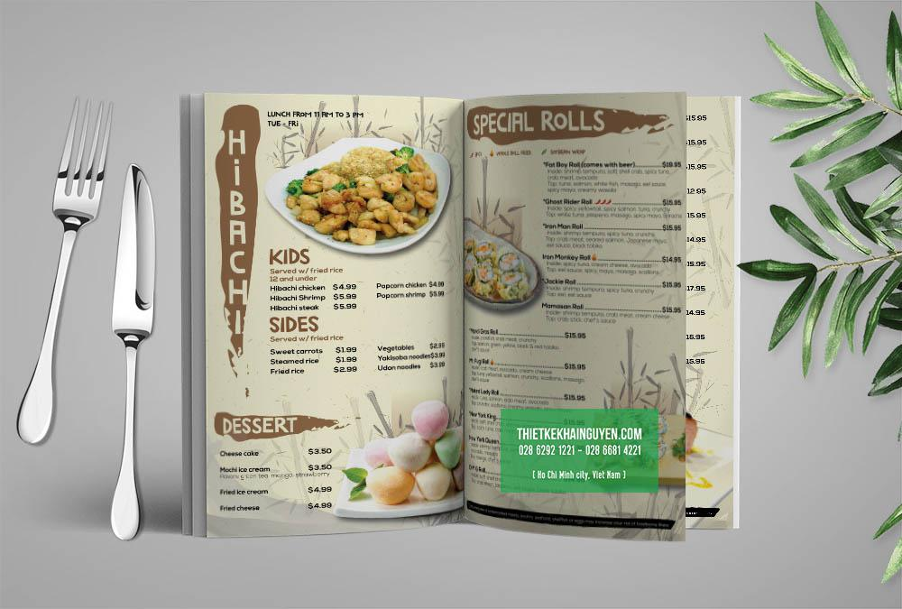 Giá món ăn nên được ghi chính xác