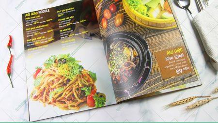 In menu không thấm nước với 4 chất liệu siêu bền.