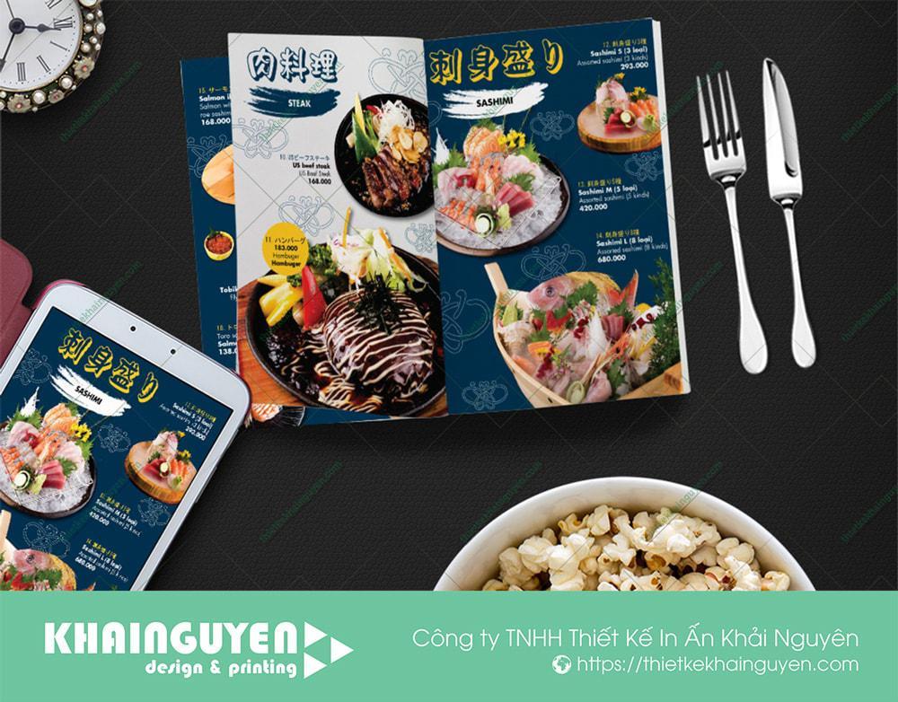 Hình ảnh trong menu Nhật luôn được chú trọng đầu tư