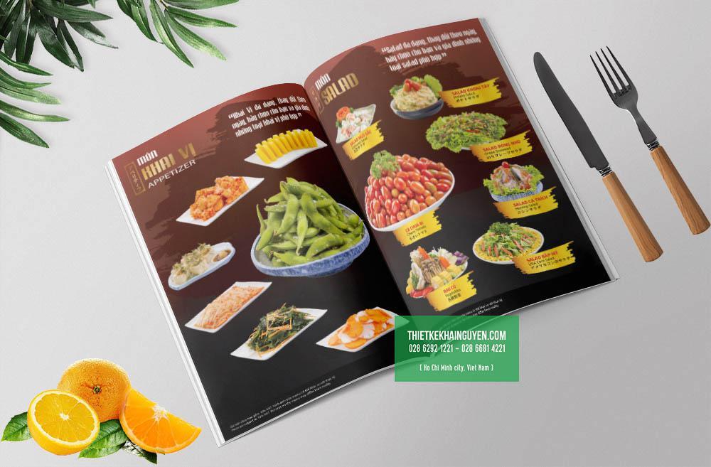 Mẫu design menu nhà hàng Nhật SAMURAI