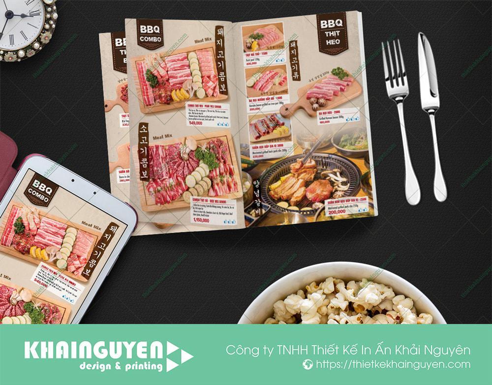 In menu BBQ dạng combo - BBQ Hàn Quốc
