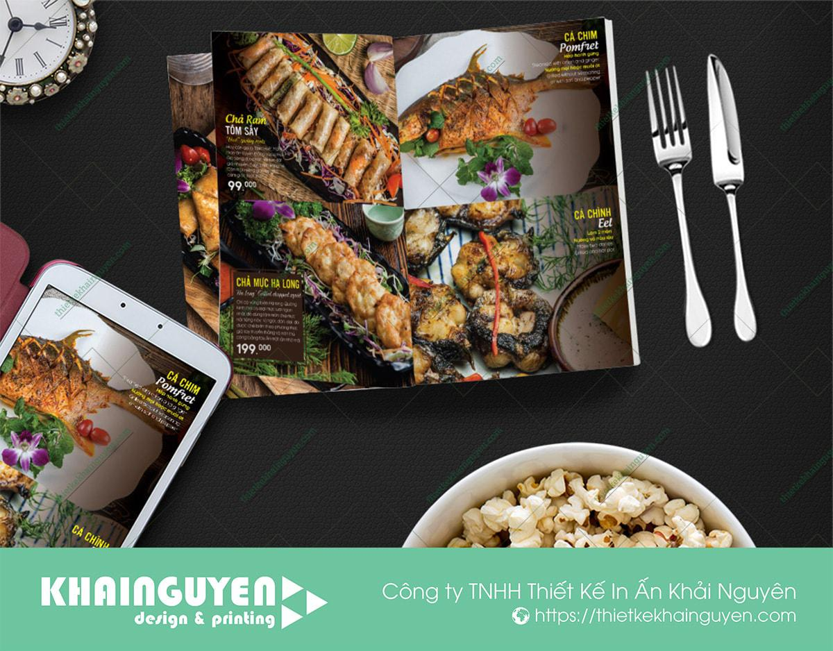 Mẫu menu nhà hàng đẹp của Wellington Restaurant