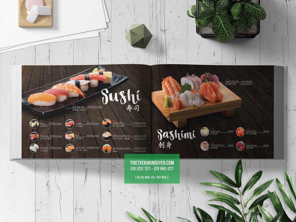 Phần Sushi & Sasimi trong menu Sakuranbo