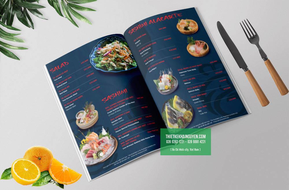 Thiết kế menu nhà hàng Nhật Sushime
