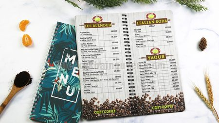 10+ mẫu menu nhựa – chất liệu in menu duy nhất chống nước 100%