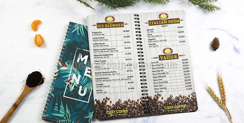 In menu nhựa Khải Nguyên - bao chống nước