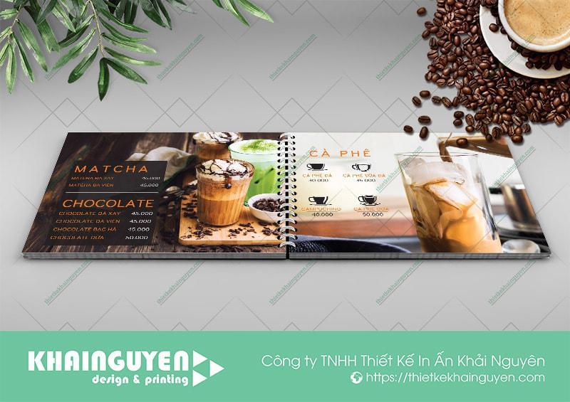 Thiết kế menu cà phê MrKang tuyệt đẹp khi in trên chất liệu nhựa