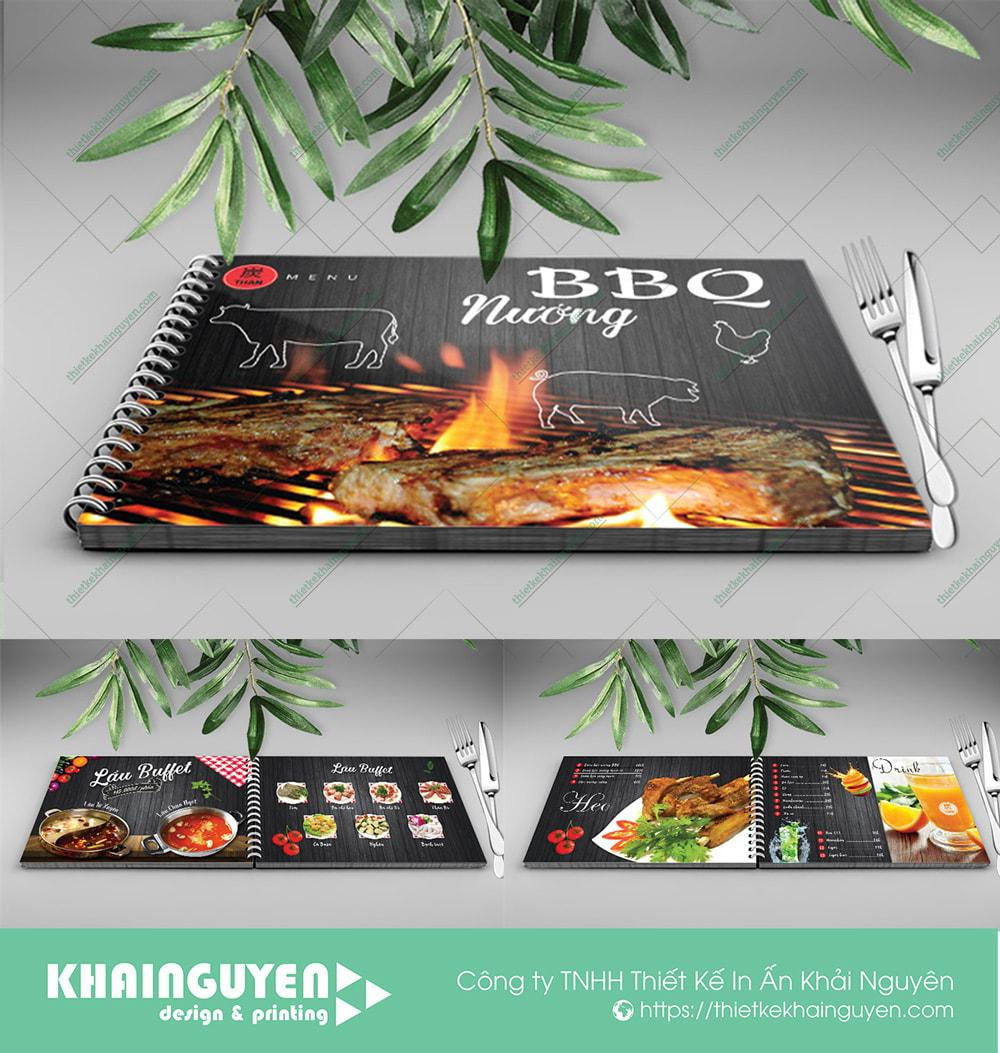 BBQ MENU - với chất liệu nhựa chống nướng