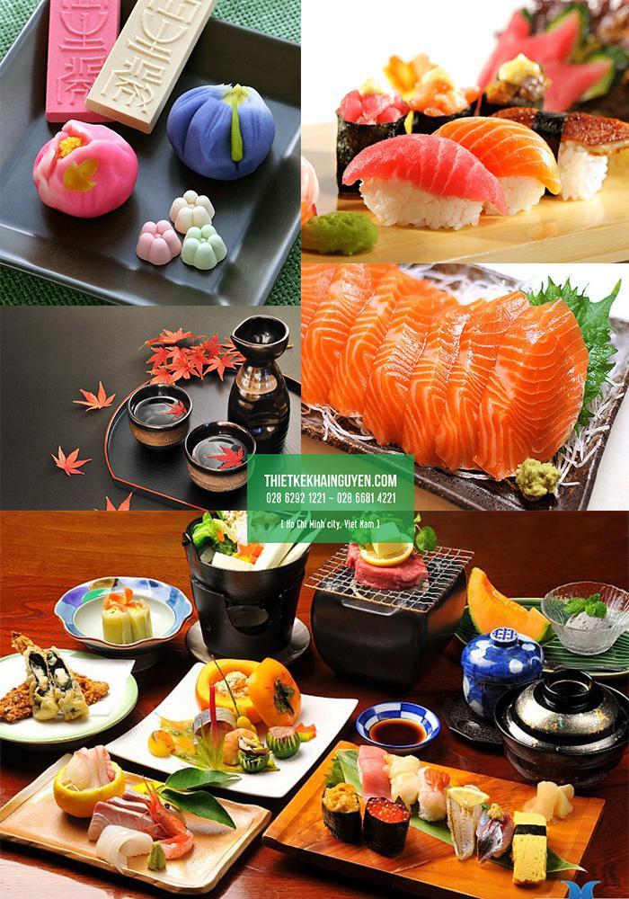 Những món ăn Nhật luôn tươi ngon và được bố trí cầu kì