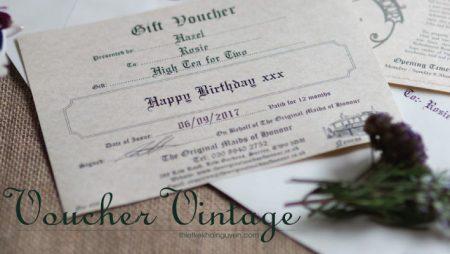Cách làm voucher cổ điển – vintage gift voucher