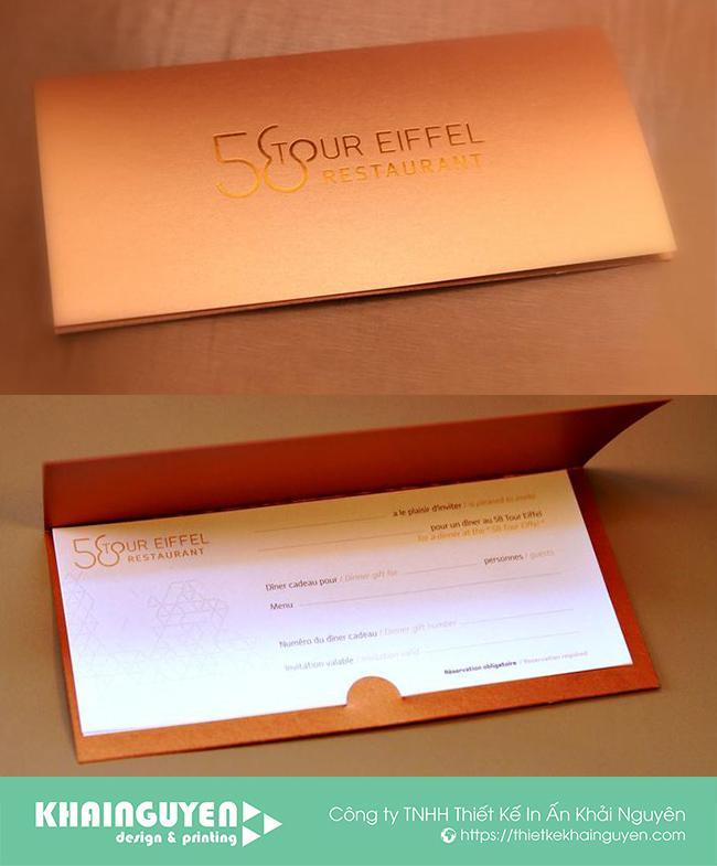 Kiểu in voucher spa cao cấp với giấy mỹ thuật