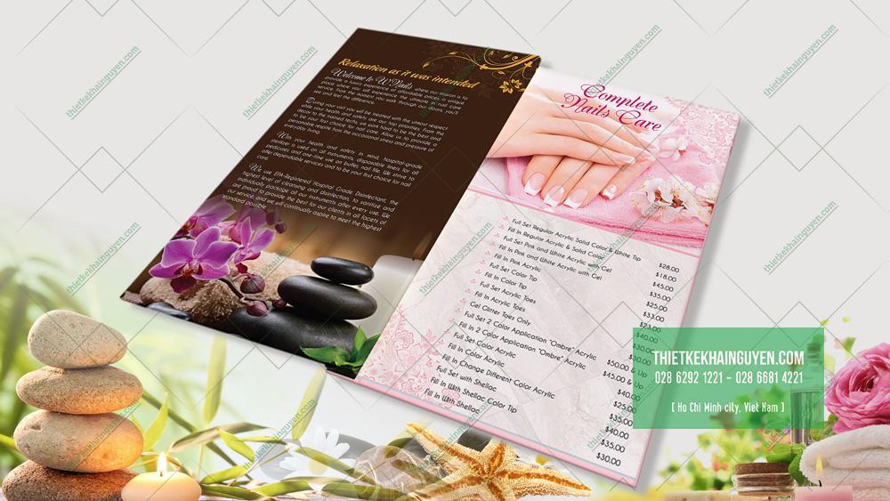 Thiết kế menu đầy màu sắc của Wnails