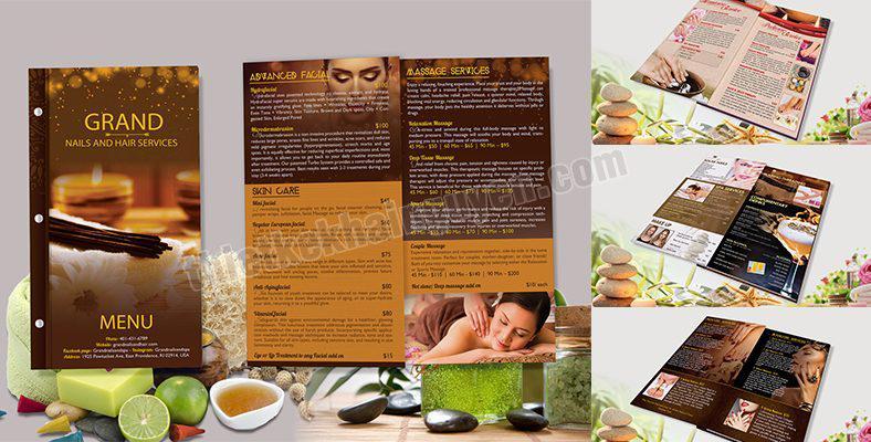 Thiết kế menu spa đẹp - nail spa, nail bar, nail salon