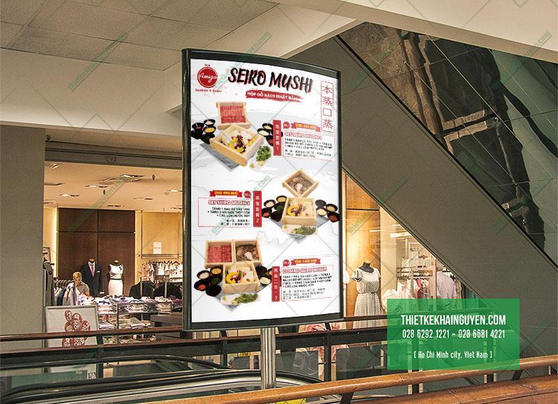 Poster quảng cáo nhà hàng Amiga
