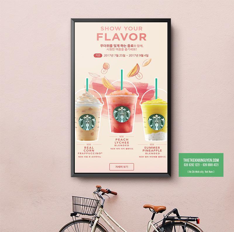 Kiểu thiết kế poster giới thiệu sản phẩm mới