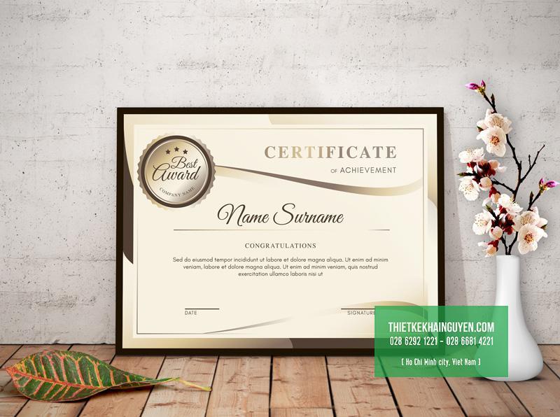 Mẫu giấy chứng nhận 2019 - bán cổ điển