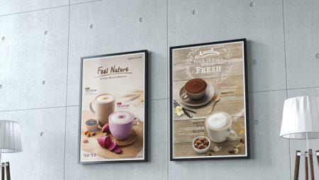 15+ mẫu thiết kế poster dùng làm menu cho quán cà phê, trà sữa, quán trà