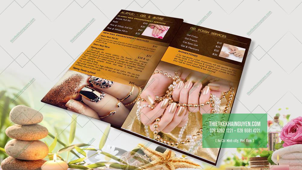 Kiểu thiết kế menu nail đẹp với phong cách Luxury
