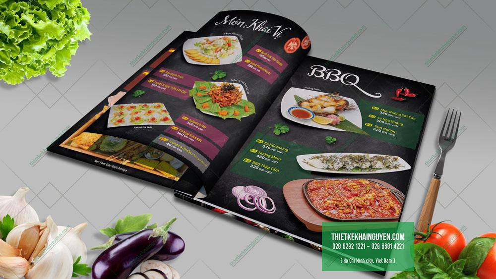 Trang BBQ trong thiết kế menu Amiga