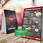 Quán ăn Nhật cũng sử dụng những dạng menu chân chữ A như thế này,