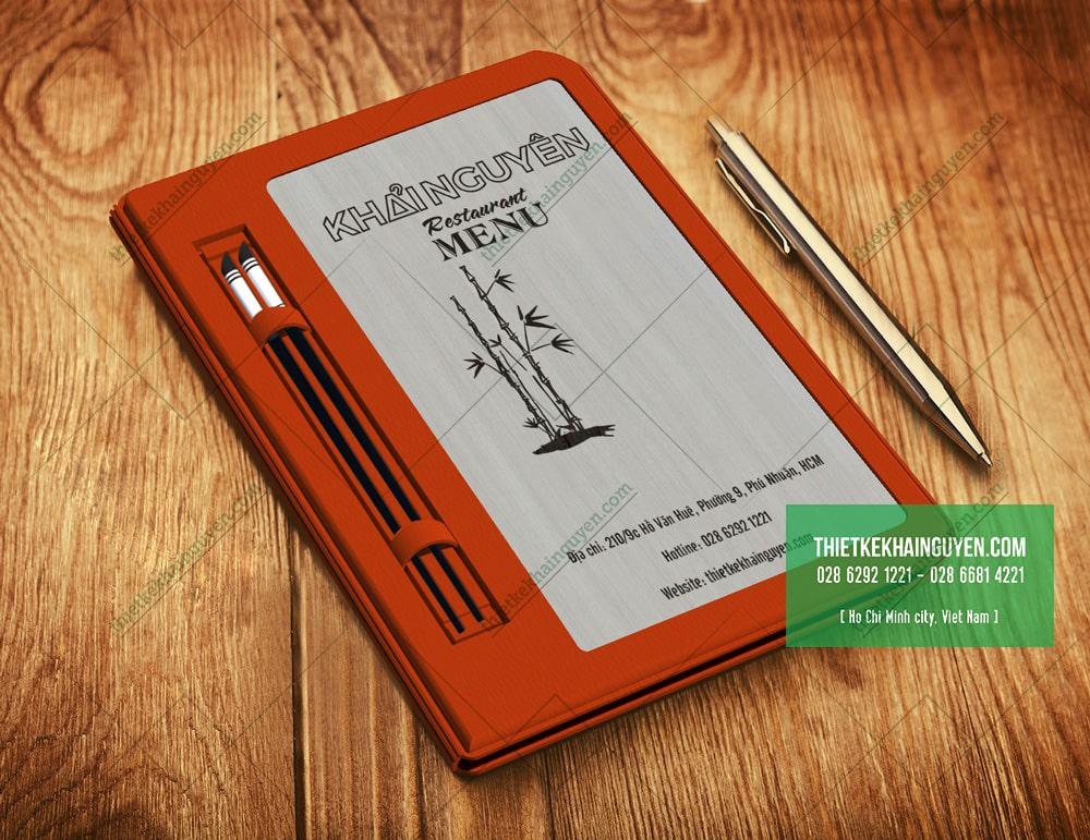 4476 Vân gỗ làm menu bìa gỗ