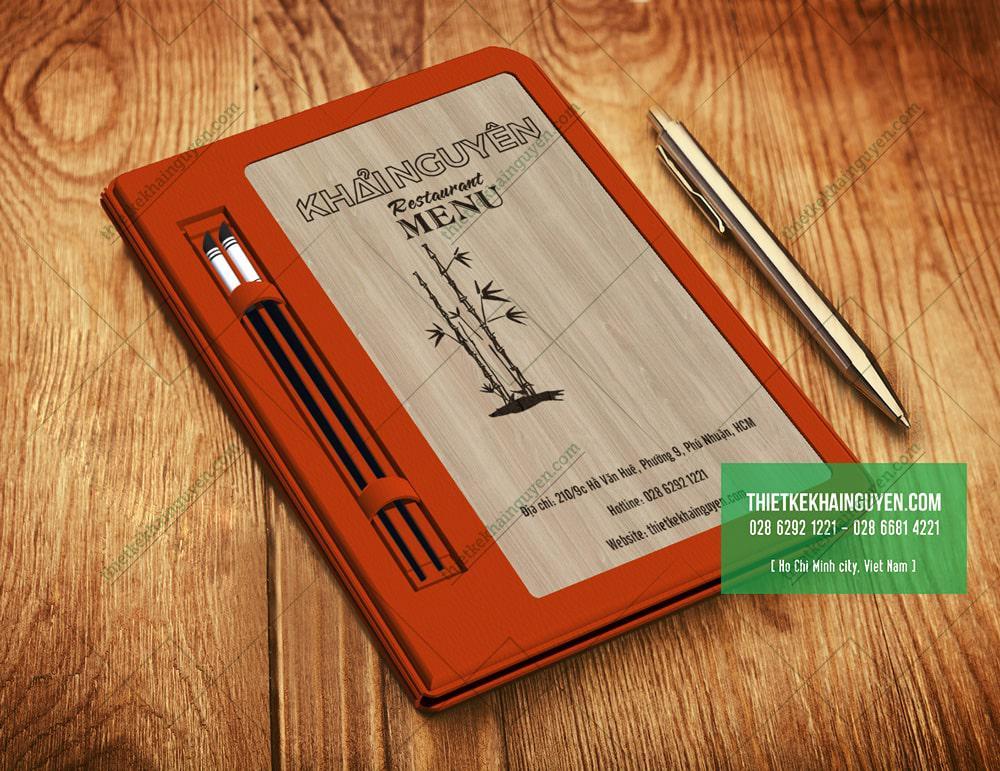 4515 - mẫu gỗ làm menu cao cấp