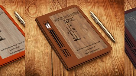Mẫu gỗ làm menu bìa gỗ – thực đơn gỗ cao cấp tại TPHCM