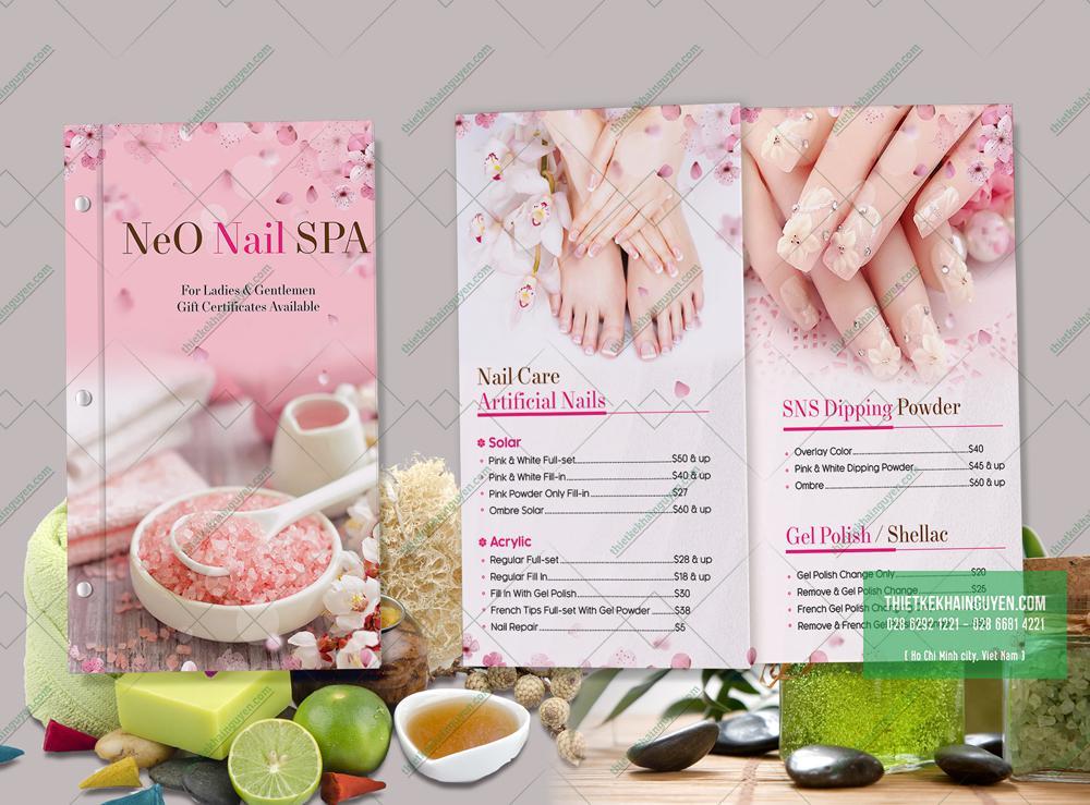 Bảng giá menu NeO Nail SPA