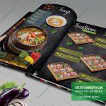 Thiết kế menu ấn tượng với nền bảng phấn