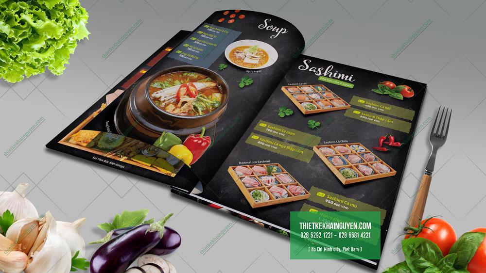 Mẫu thiết kế menu đẹp cho nhà hàng