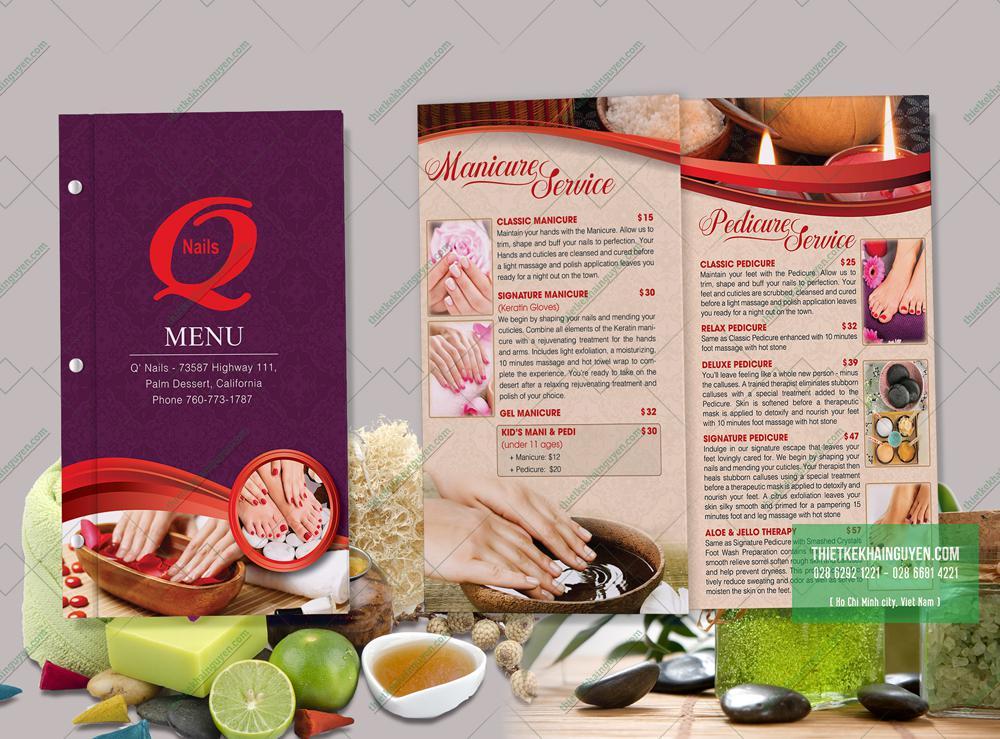 Thiết kế menu chỉnh chu là yếu tố giúp cuốn menu thành công