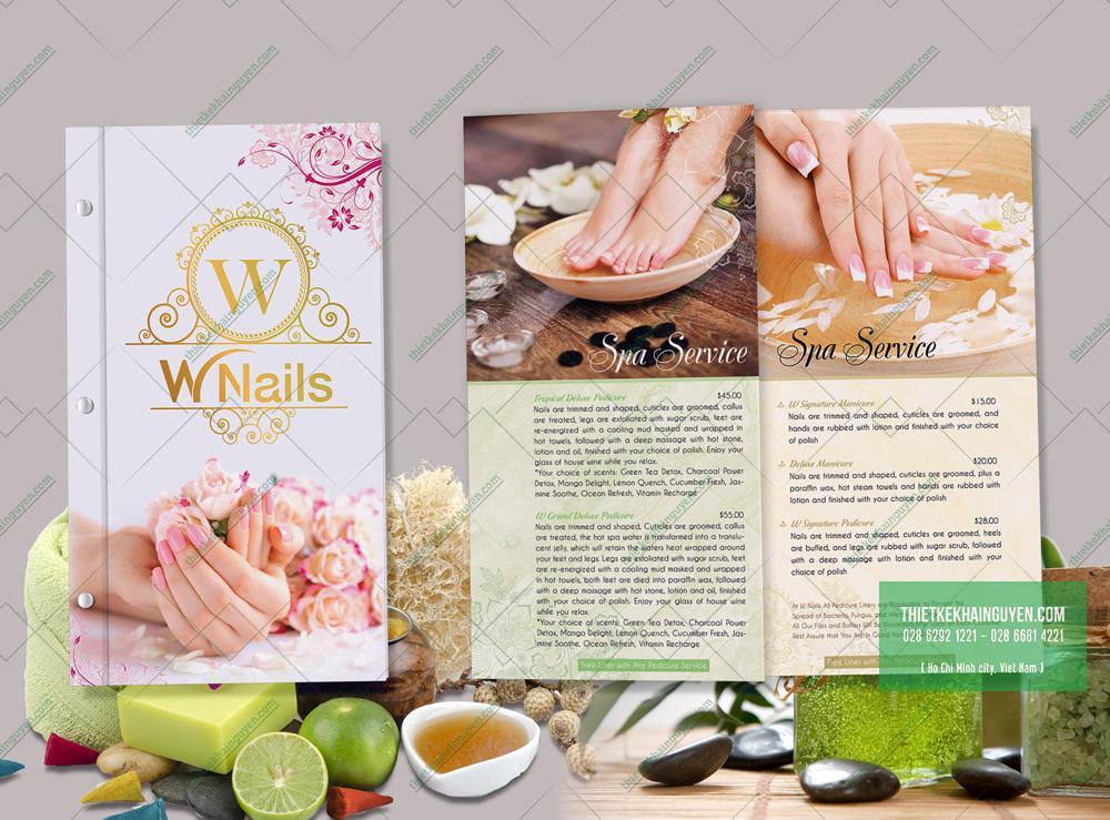 Thiết kế menu W-Nails trẻ trung sống động