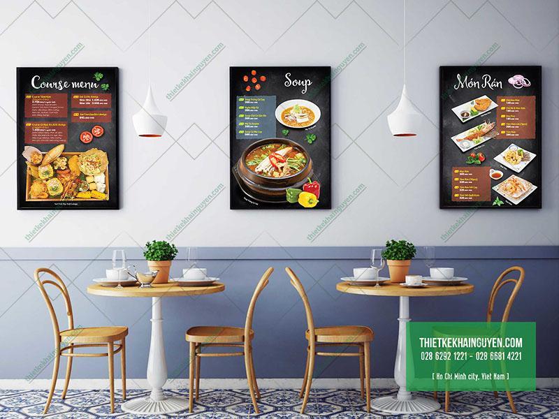 Menu nhà hàng Amiga - Nhà hàng Á Đông đặc sắc