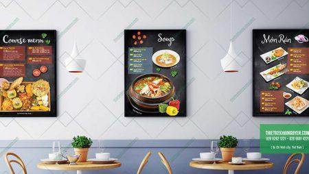 Menu nhà hàng Amiga – Nhà hàng Ẩm thực Á Đông đặc sắc.