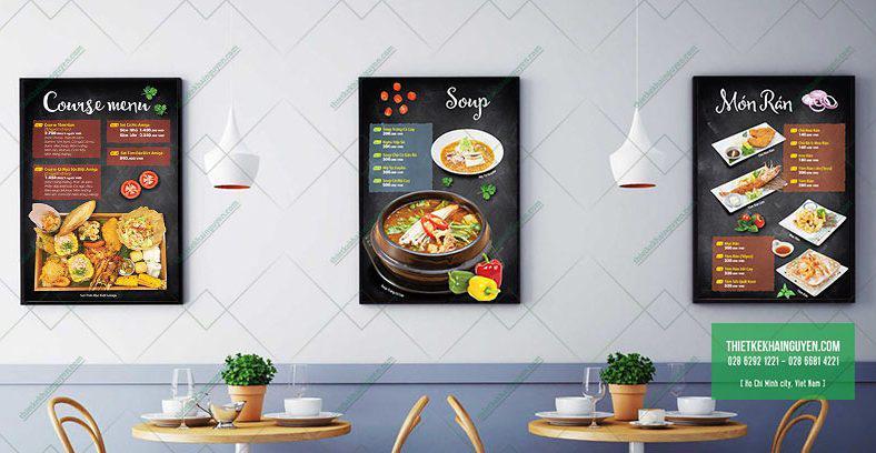 Menu nhà hàng Amiga - thiết kế in ấn trọn gói