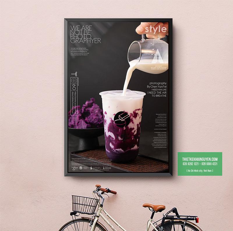 Mẫu poster quán trà siêu đẹp