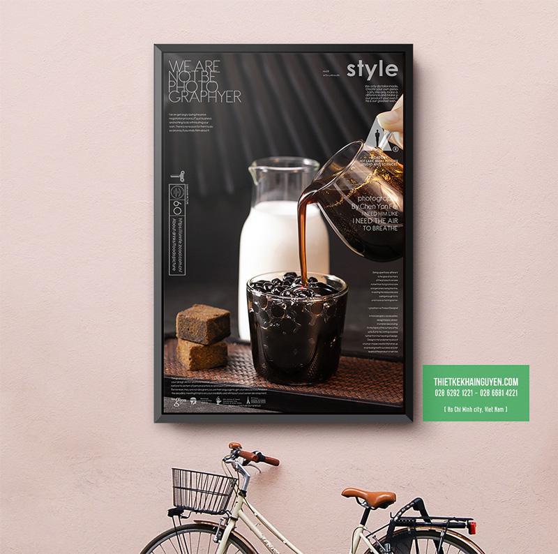 Thiết kế poster mới cho quán trà sữa