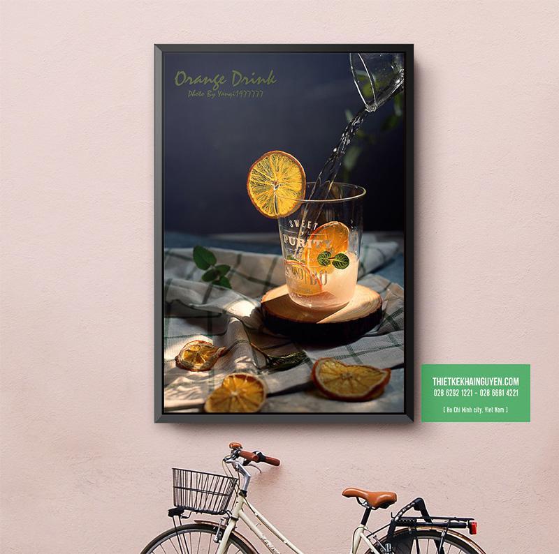 Một mẫu poster trang trí cho quán nước