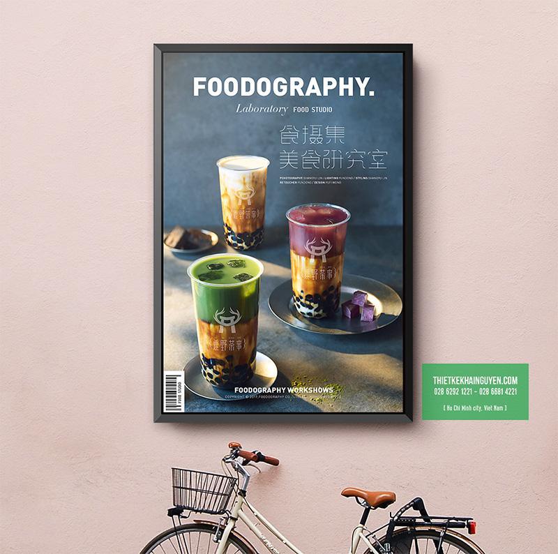 Poster trà sữa được thiết kế rất đẹp