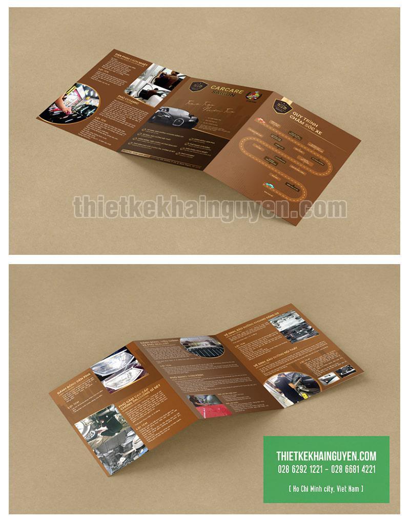 Mẫu thiết kế brochure gấp 3 khổ lớn - dạng 3 tờ A4 ghép vào nhau