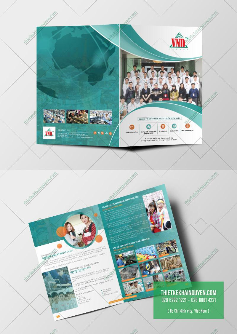 Mẫu brochure giới thiệu công ty Liên Việt