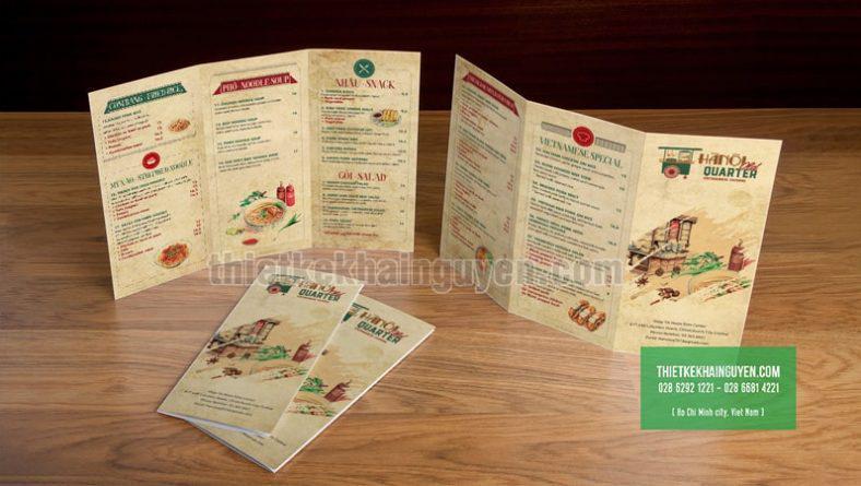 Mẫu thiết kế menu cầm tay cho nhà hàng Việt