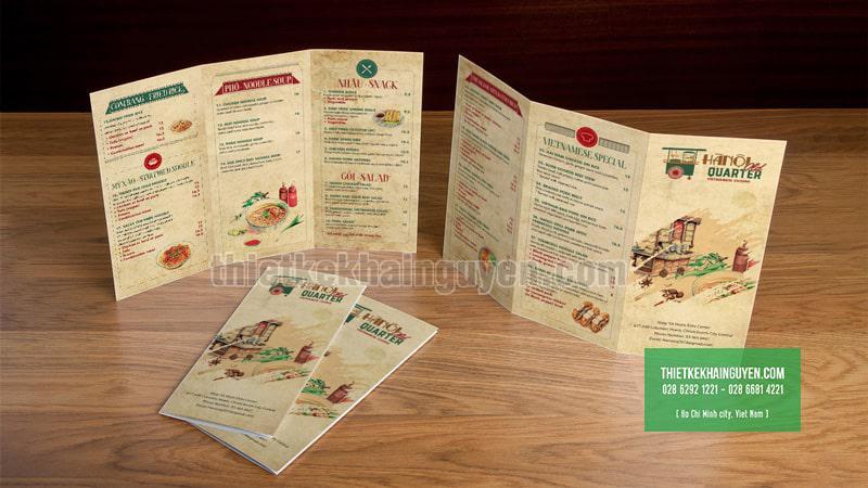 Ha Noi Quarter - Mẫu thiết kế brochure gấ ba với phong cách cổ điển