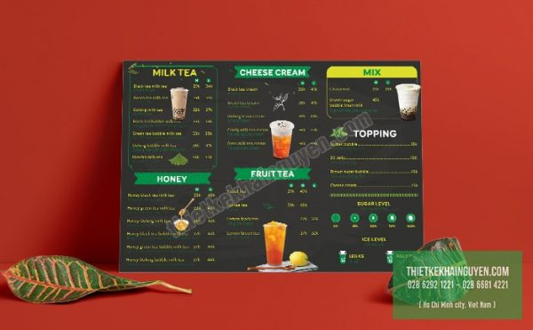 16ei Milktea - Ai bảo thiết kế menu trà sữa là phải nhí nha nhí nhố mới đẹp đâu