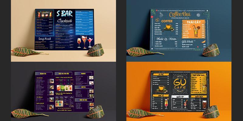 Những mẫu menu bảng A3 cho quán cafe - trà sữa đặc sắc